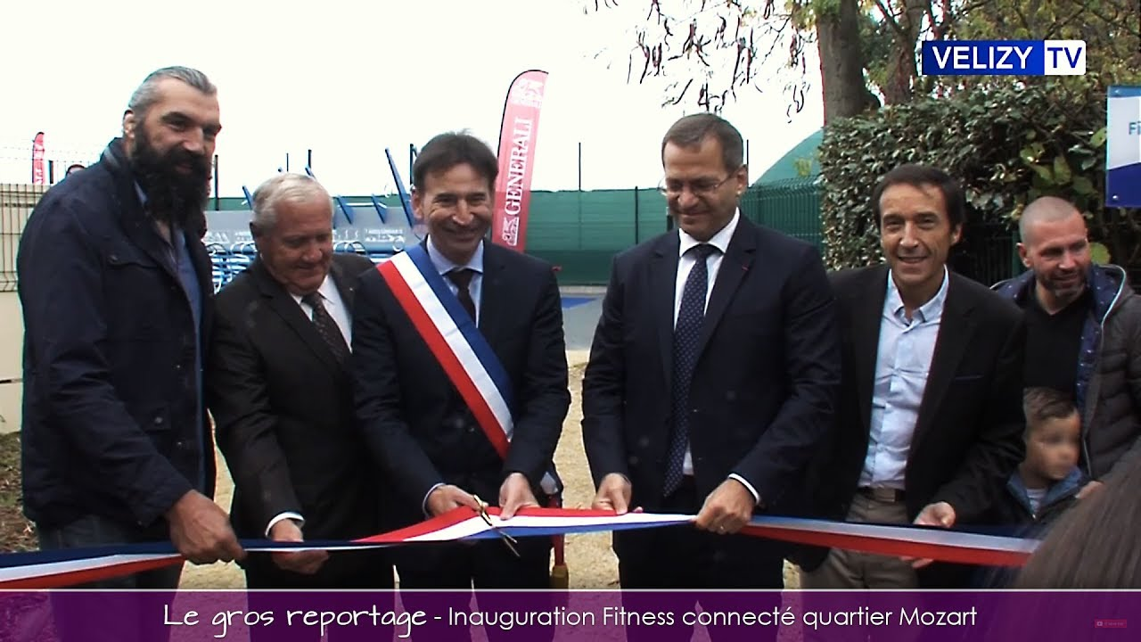 Inauguration du Fitness connecté au quartier Mozart